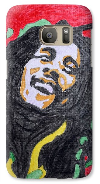 Galaxy Case featuring the painting Happy Bob Marley  by Stormm Bradshaw