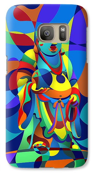 Galaxy Case featuring the digital art Laughing Buddha by Randall Henrie
