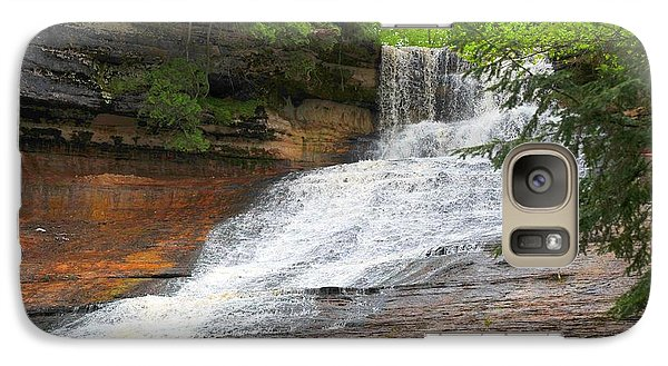 Galaxy Case featuring the photograph Laughing Whitefish Waterfall by Terri Gostola