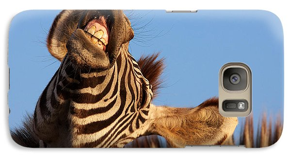 Galaxy Case featuring the photograph Laughing Zebra by Nick  Biemans