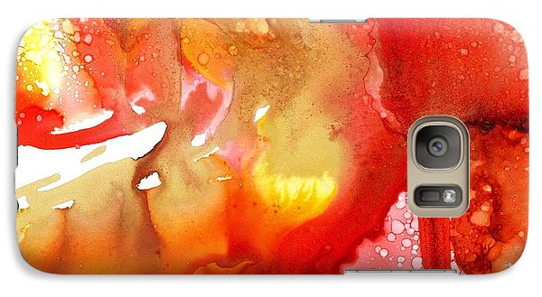Galaxy Case featuring the painting Lava Flow by Yolanda Koh