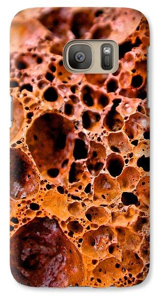 Galaxy Case featuring the photograph Lava Rock by Joel Loftus