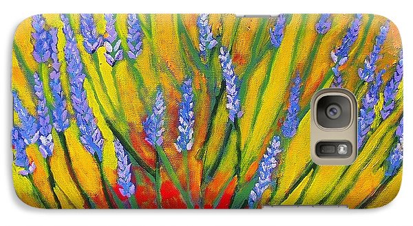 Galaxy Case featuring the painting Lavender Afternoon by Angela Annas
