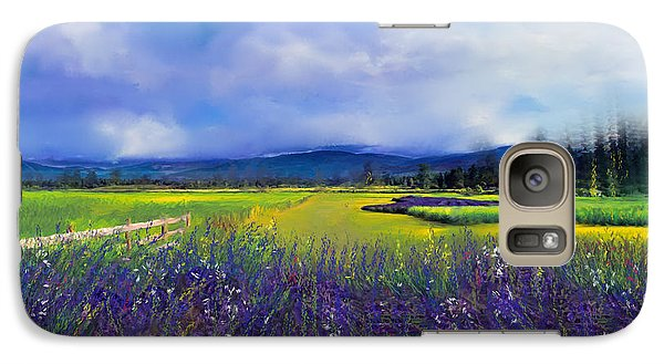 Galaxy Case featuring the digital art Lavender Blues by Kari Nanstad