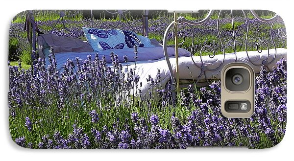 Galaxy Case featuring the photograph Lavender Dreams by Cheryl Hoyle