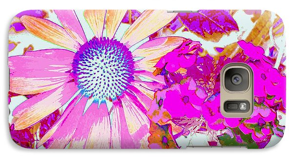 Galaxy Case featuring the photograph Lavender Echinacea by Annie Zeno