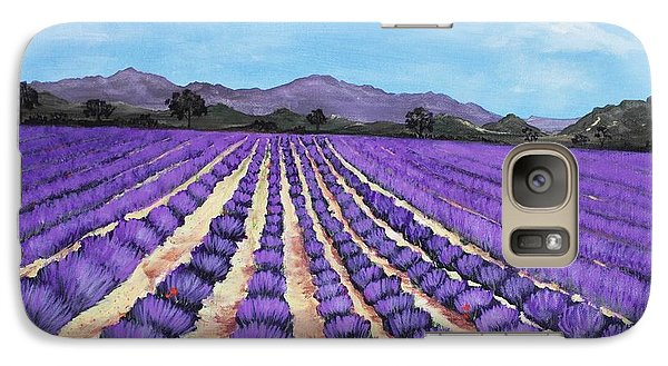 Lavender Field In Provence Galaxy S7 Case