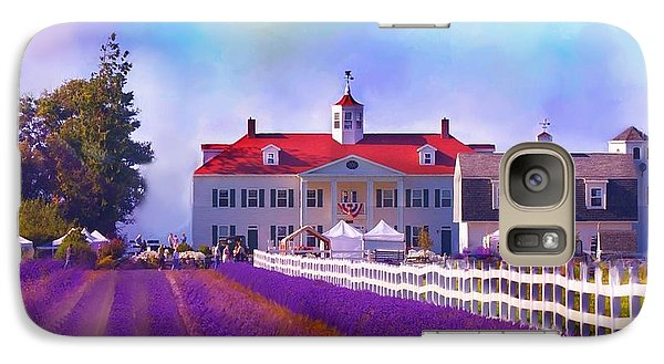 Galaxy Case featuring the digital art Lavender Fields by Kari Nanstad