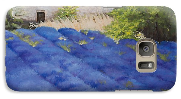 Galaxy Case featuring the painting Lavender Fields by Rebecca Matthews