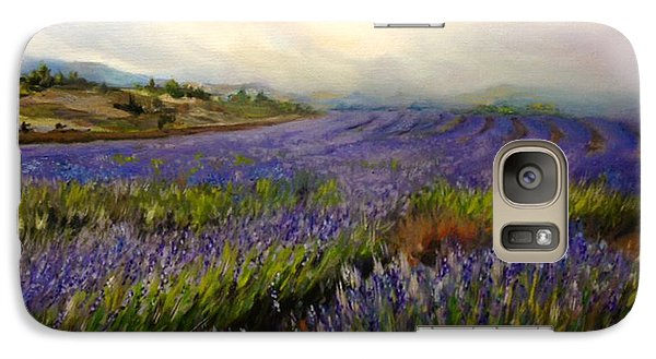 Galaxy Case featuring the painting Lavender In Oil by Lori Ippolito