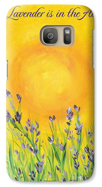 Galaxy Case featuring the painting Lavender In The Air by Val Miller