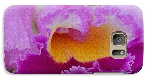 Galaxy Case featuring the photograph Lavender Orchid by Aimee L Maher Photography and Art Visit ALMGallerydotcom