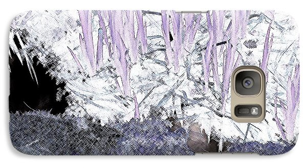 Galaxy Case featuring the photograph Lavender Pond Abstract by Ann Johndro-Collins