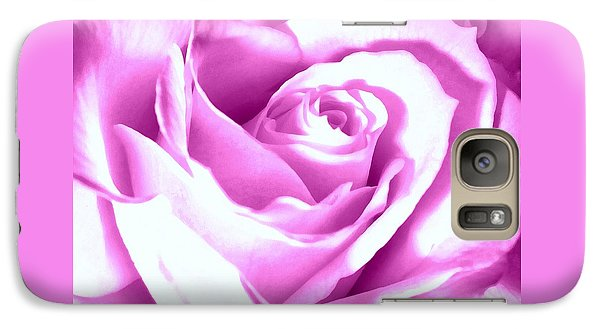 Galaxy Case featuring the photograph Lavender Rose  by Janine Riley