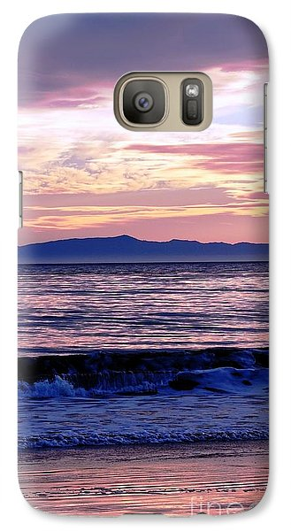 Galaxy Case featuring the photograph Lavender Sea by Sue Halstenberg
