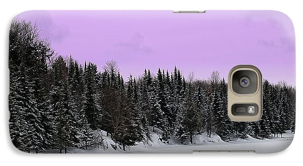Galaxy Case featuring the photograph Lavender Skies by Bianca Nadeau