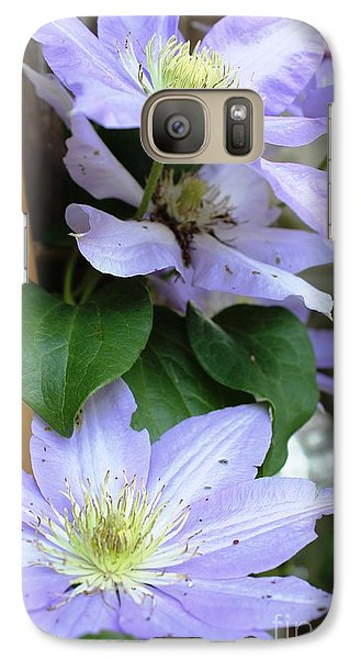 Galaxy Case featuring the photograph Lavender Star by Judy Palkimas