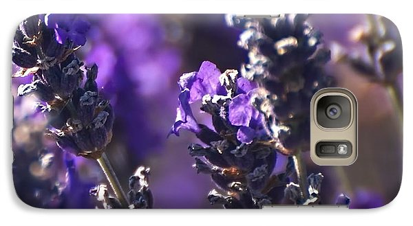 Galaxy Case featuring the digital art Lavender Stems by Kari Nanstad