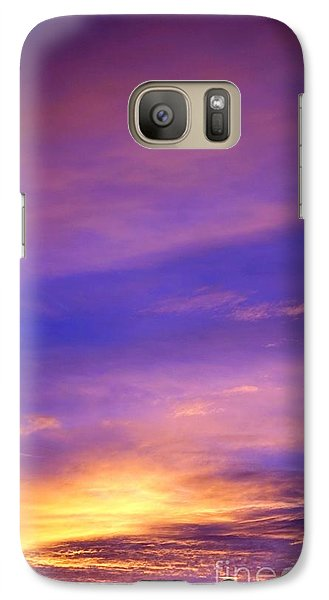 Galaxy Case featuring the photograph Lavender Sunrise by Sue Halstenberg