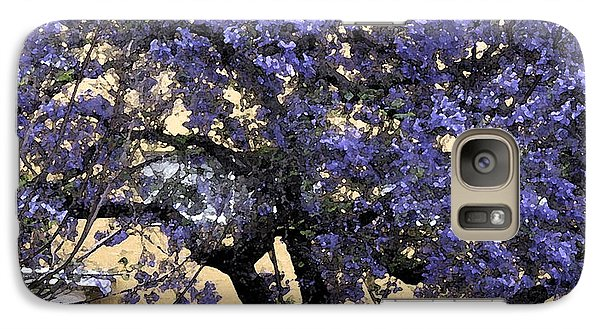 Galaxy Case featuring the photograph Lavender Tree by Patricia Januszkiewicz