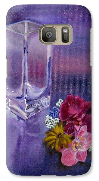 Galaxy Case featuring the painting Lavender Vase by LaVonne Hand