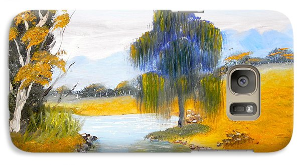 Galaxy Case featuring the painting Lawson River by Pamela  Meredith