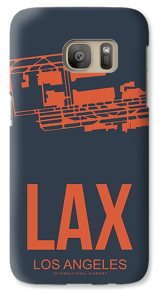Transportation Galaxy S7 Case - Lax Airport Poster 3 by Naxart Studio