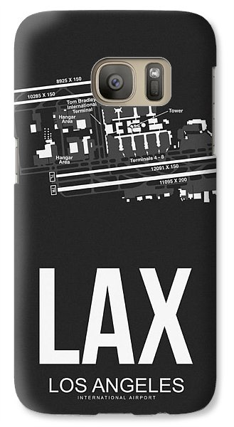Transportation Galaxy S7 Case - Lax Los Angeles Airport Poster 3 by Naxart Studio