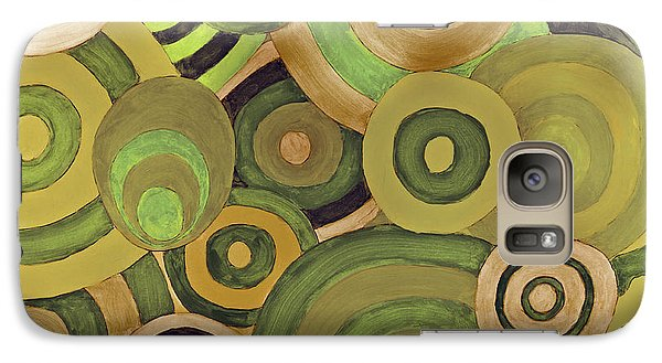Galaxy Case featuring the painting Layered Rings by Kjirsten Collier