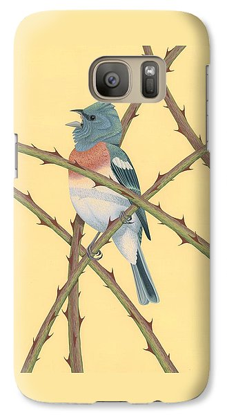 Lazuli Bunting Galaxy Case by Nathan Marcy
