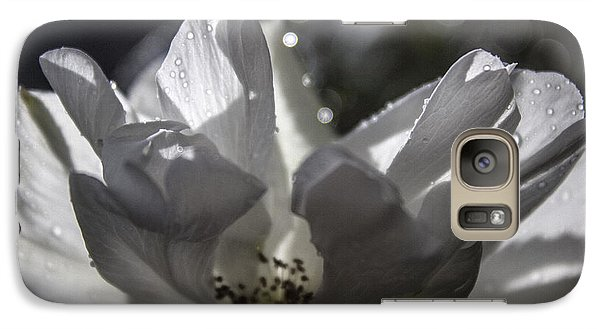 Galaxy Case featuring the photograph Lazy Afternoon White Rose by Ginette Callaway
