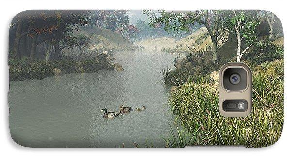 Galaxy Case featuring the digital art Lazy River by Jayne Wilson