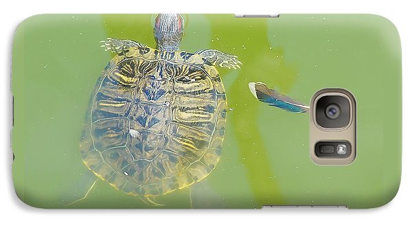 Lazy Summer Afternoon - Floating Turtle Galaxy S7 Case