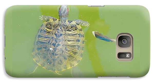 Galaxy Case featuring the photograph Lazy Summer Afternoon - Floating Turtle by Menega Sabidussi