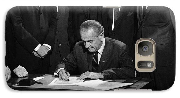Lbj Signs Civil Rights Bill Galaxy S7 Case