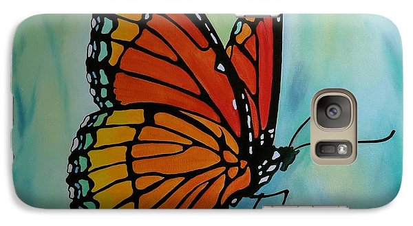 Galaxy Case featuring the painting Le Beau Papillon by Jo Appleby