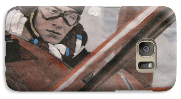 Galaxy Case featuring the painting Le Diable Rouge by Vikram Singh