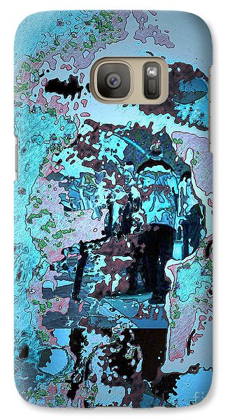 Galaxy Case featuring the digital art Le Parapluie by Mojo Mendiola