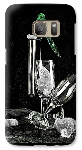 Galaxy Case featuring the photograph Le Perroquet Vert by Elf Evans