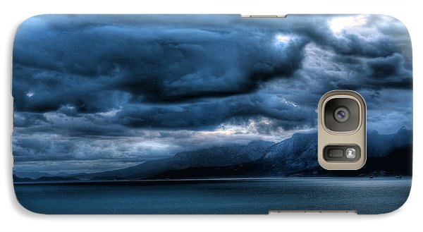 Galaxy Case featuring the photograph Leaden Clouds by Erhan OZBIYIK