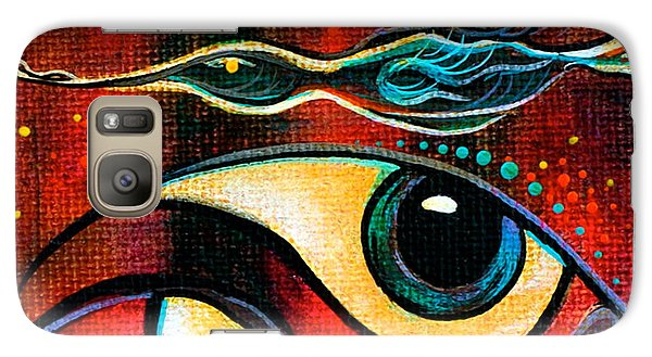 Galaxy Case featuring the painting Leadership Spirit Eye by Deborha Kerr