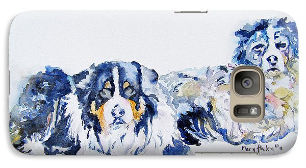 Galaxy Case featuring the painting Leadville Street Dogs by Mary Haley-Rocks
