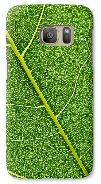 Galaxy Case featuring the photograph Leaf Detail by Carsten Reisinger