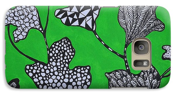 Galaxy Case featuring the painting Leaf Diversity by Kathleen Pio