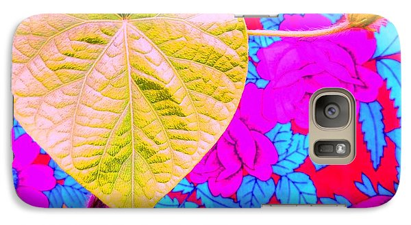 Galaxy Case featuring the photograph Leaf Heart by Julia Ivanovna Willhite
