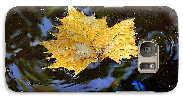 Galaxy Case featuring the photograph Leaf In Pond by Lisa L Silva