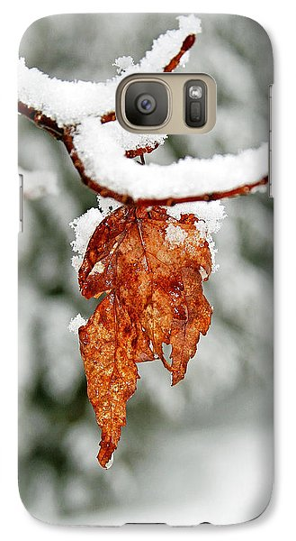 Galaxy Case featuring the photograph Leaf In Winter by Barbara West