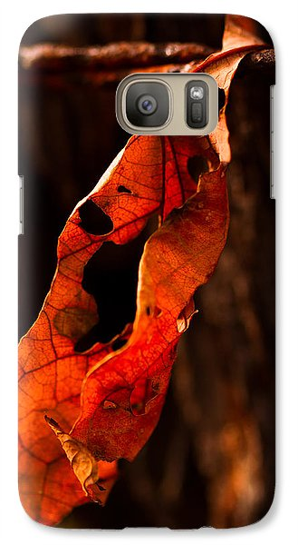 Galaxy Case featuring the photograph Leaf On A Wire by Haren Images- Kriss Haren