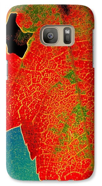 Galaxy Case featuring the photograph Leaf Pop by Kathy Bassett