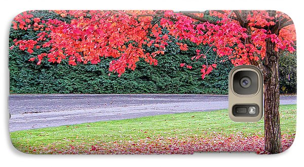 Galaxy Case featuring the photograph Leaf With Me by Wendy McKennon